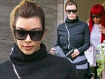 New life/new friends: Kim Kardashian didn't bother to dress up Sunday while she spent a relaxing day with new BFF Blac Chyna, who also dates a rapper