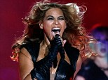 Hit-maker: Beyonce Knowles performs during the Pepsi Super Bowl in New Orleans, Louisiana