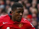Tussle: Zaha challenges with Newcastle's Mapou Yanga-Mbiwa when the clubs faced one another