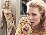 Golden girl! Cate Blanchett gets glam in Céline and Dolce & Gabbana for fifth Vogue cover