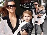 Going hell for leather! Kourtney Kardashian and daughter Penelope take a walk on the wild side of fashion
