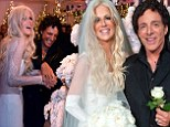 Don't stop believing! Michaele Salahi and Journey guitarist Neal Schon get married in extravagant over the top wedding featuring 18 bridesmaids