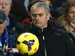 Mind game: Chelsea boss Jose Mourinho (left) claims Arsenal will be fresher since they have more time to rest