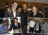 Real Madrid players celebrate Christmas lunch