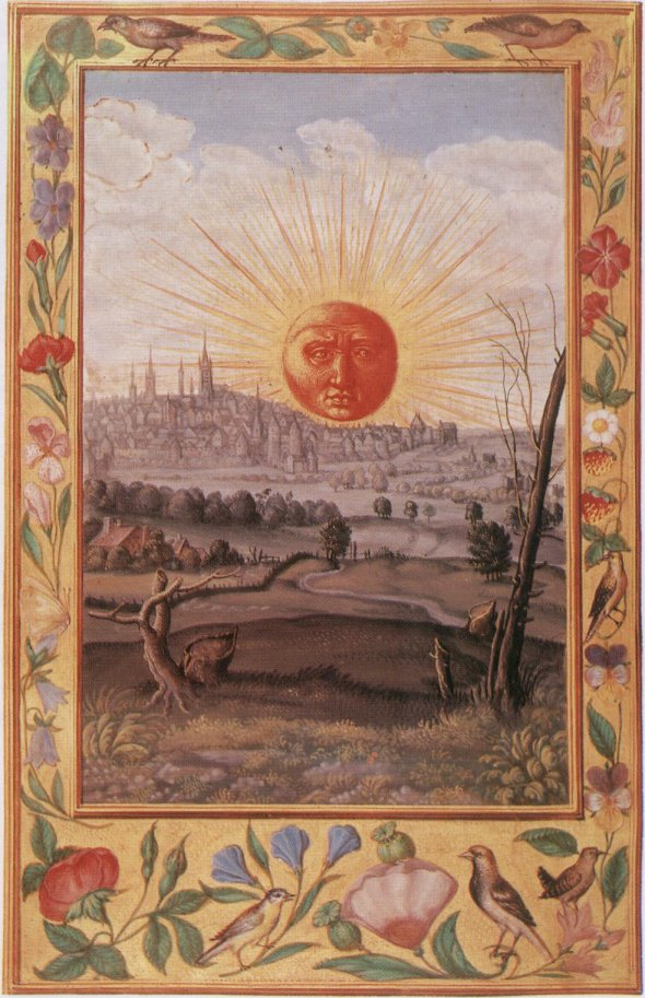 Splendor of the Sun, union of Heaven and Earth (Rubedo - red)  Water must be separated from the Earth, and then recombined.for the Perection of the Stone - the Composition must be Single. 22) For this cause, the Philosophers have filled the whole world with innumerable books.