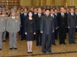 This image, taken from a video, appears to show Kim Jong-Un with his wife, Ri Sol Ju, who was feared missing