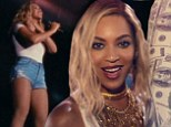 'Baby, kiss me!' Beyonce heats up her new music video XO in tight Daisy Dukes as she wields a bat made of hundred dollar bills at Coney Island amusement park