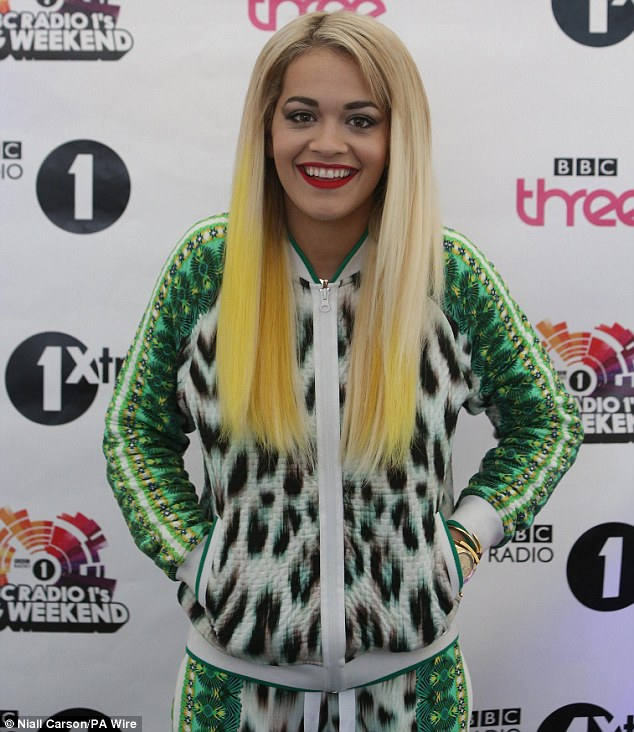 I can't wait! Rita couldn't contain her excitement as she prepared to perform for her fans