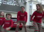 Bored with the conventional card, this family has sent their annual Christmas greeting as a rap video