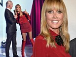 Project REDway: Heidi Klum goes for a colour block outfit as she appears at the final of Under The Gunn