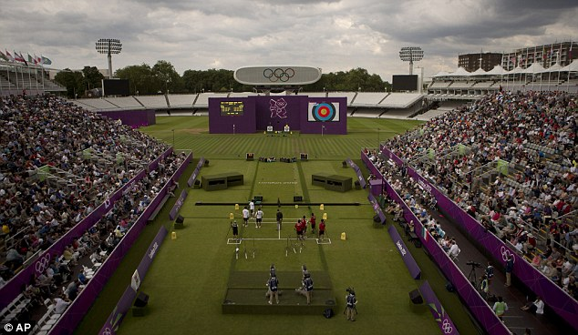 Home of cricket: Lord's is playing host to the archery during the Olympics