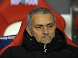 Anger: Jose Mourinho looks on thunderously as his side crash to a shock defeat at Sunderland