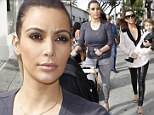 'Never lose time for you!' Kim Kardashian tweets advice to new mothers before Christmas shopping with Kourtney and their babies