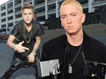 'He's worried he's going to end up in bad trouble': Eminem invites Justin Bieber to stay in hope of 'talking him into therapy'