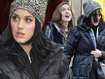 Watch the hair Girls! BFFs Katy Perry and Allison Williams let out a little squeal as they get caught out in the snow during a girls' day out