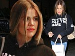 So true: Khloe Kardashian wore a Nothing Was The Same sweatshirt on Monday that summed up her recently topsy-turvy life