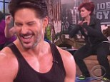 No pain no gain: A buff Joe Manganiello puts Sharon Osbourne through her fitness paces on The Talk
