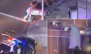 A man was fatally shot by police after an hour-long high-speed chase through the streets of Los Angeles