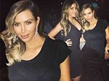 Never one to shy away from sheer! Kim Kardashian bares her black bra in a transparent top as she leaves little Nori in LA to watch Kanye West perform in Chicago