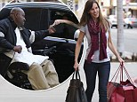 Compassionate : Hilary Swank offers a homeless man a protein bar when she has no cash