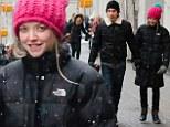 Cosy: Amanda Seyfried enjoys a romantic walk with boyfriend