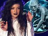 'I totally know I look like Gollum': Singer Lorde thinks she resembles the Lord Of The Rings creature when performing on stage
