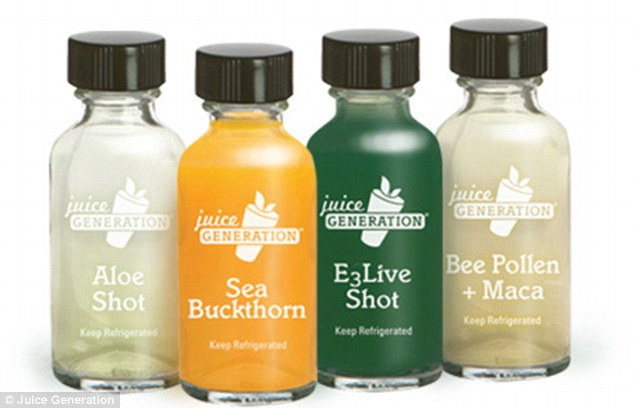 Jumping on the health bandwagon: Juice Generation have unveiled shots that claim to address everything from improving digestion to decreasing inflammation