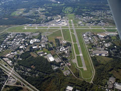 Aerial photo of KALB (Albany International Airport)