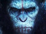 Hail Caesar! The teaser trailer for Dawn of the Planet of the Apes show mankind fighting for survival as painted primates prep for battle