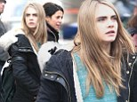 No time for sightseeing: Cara Delevingne gets down to business as filming continues on The Face of an Angel in Florence