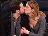 Ready for the Kiss Cam? Ashley Greene and boyfriend Paul Khoury sit courtside at a New York Knicks game