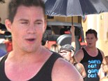 He's so P. Diddy! Channing Tatum uses a personal umbrella handler as he shoots 22 Jump Street in Puerto Rico