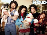 Snooki and Jwoww wear ugly Christmas sweaters with their wigged out fiances for funny holiday photo
