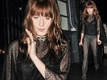 Florence Welch flashes some flesh and her pants in ultra sheer look at the Love Magazine Christmas party