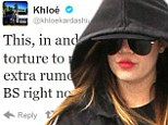 Deja vu: Khloé wore the exact same workout clothes on Tuesday as she exited the gym
