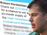 'My hair is looking much thicker!' Rob Kardashian shamelessly plugs hair growth supplement on Twitter after showing signs of balding