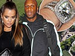 Revealed: Khloe Kardashian 'will get a total of $7m in Lamar Odom divorce'... which includes that 12.5 carat diamond sparkler