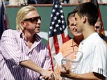 Shock: Boris Becker (left) is to take over as Novak Djokovic¿s (right) head coach
