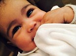 'Kim definitely waxed her baby's unibrow': Fans react to Kardashian's latest picture of baby Nori