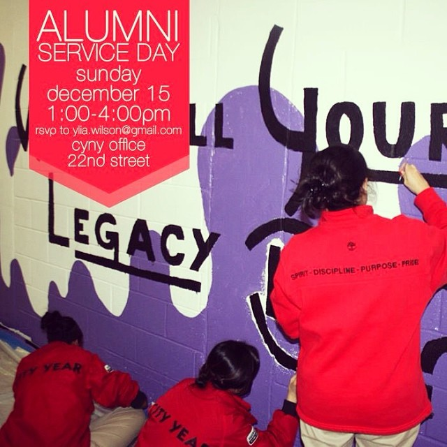 Join us for our first Alumni Service Day on 12/15! #service #cityyearalumni #alumni #leadersforlife