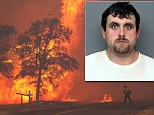 Zane Wallace Peterson, 29, of Happy Valley, has pleaded not guilty to starting the September 9 fire that burned 8,073 acres and threatened more than 500 homes.