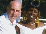 Happily married: Mr Gannon pictured with his new wife after they married in Jamaica