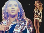 They're saying her name! Beyonce has the world at her heels as she struts her stuff in sparkly bodysuit on stage