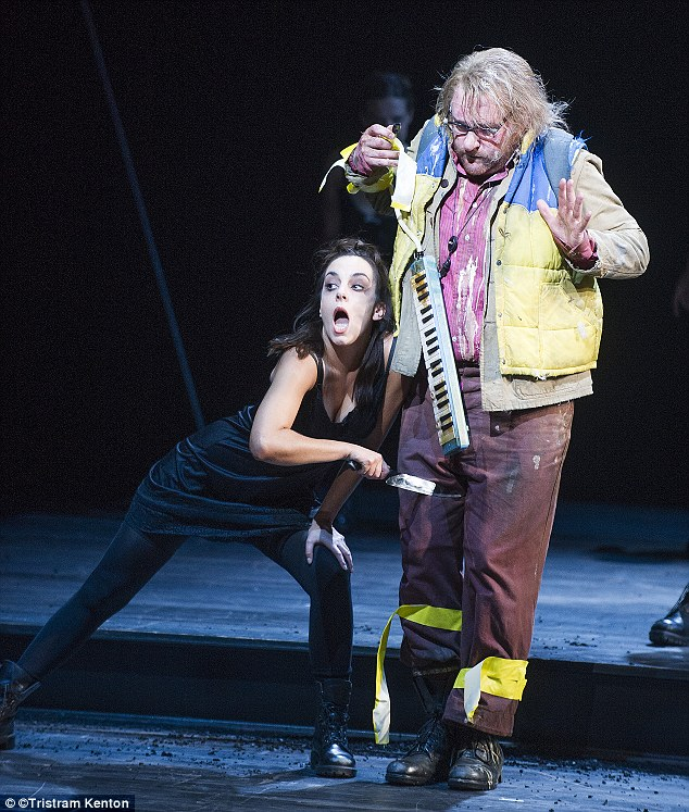 Dramatic: The tests of fire and water that Roland Wood (Papageno) and Tamino undergo are vividly represented