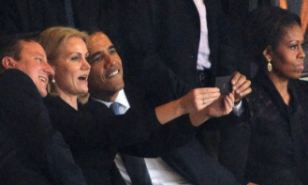 The shot worth $11m: While Obama gave an address at Mandela's memorial it will always be remembered for this picture. It emerged today for that publicity, the Obama administration was prepared to pony up $11.5 million