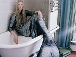 Wearing a fish scale tail, model Kristen McMenamy flaps about in a short film, Suspension of Disbelief, and a fashion spread for the January issue of W magazine, both shot by photographer Tim Walker