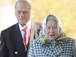 The Queen arrives at King's Lynn station accompanied by the Duke of Edinburgh
