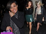 The Saturdays enjoy a Christmas get-together before final performance of the year