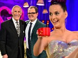 Katy Perry, Bruce Forsyth and Lee Mack.