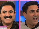 Look at me now: Reza said he plans to grow back his mustache